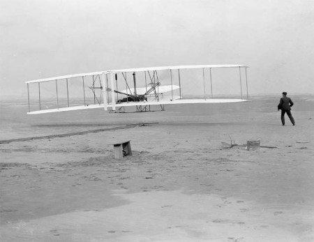 Wright Flyer at Kitty Hawk (1903)