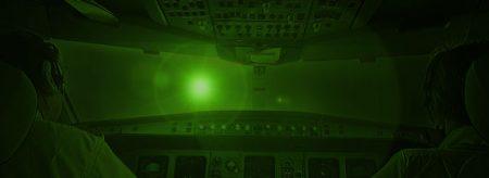 LASER glare in cockpit